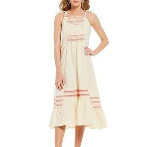 Free People Love Smocked Midi Dress